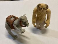 Vintage Star Wars 1980's Action Figures Wampa and Ton Ton Original Kenner