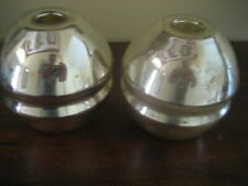 PAIR OF VINTAGE ART DECO MERCURY GLASS CANDLESTICK HOLDERS