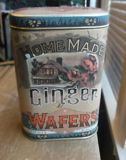 Vintage Ginger Wafers Tin Container Designed by Daher, Made in England