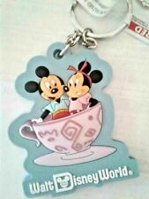 Disney World Mickey Minnie Mad Tea Party Key Chain