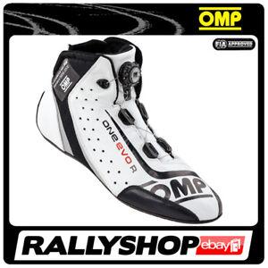 FIA OMP ONE EVO R Fahrerschuh Fahr Rennen Professionell  Motorsport Weiß