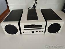 YAMAHA CRX-040 CD Stereo Receiver iPod Dock Shelf Speakers Micro Unit White