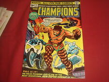 THE CHAMPIONS #1  High Grade Bronze Age  X-Men Cents Marvel Comics 1975 NM/NM-
