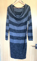 Phase Eight Ladies Dress 14 Jumper Stripy Winter Knitted Casual Smart Work