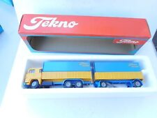 TEKNO SCANIA  141 Tekno Transport  TRUCK WITH TRAILER  1:50  NM BOXED