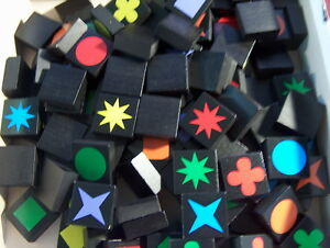 SINGLE REPLACEMENT TILES Qwirkle Game-Make Your Game Complete Again!