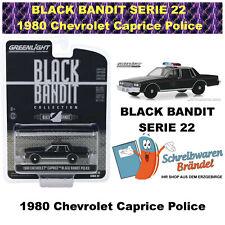 Greenlight Hollywood BLACK BANDIT SERIE 22 - 1980 Chevrolet Caprice Police 1:64