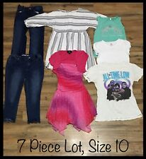 Girls Clothing Lot, 7 Items, Size 10, Special Occasion Dress, Jeans, Cat & Jack