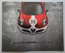 V17716 ALFA ROMEO 4C SPIDER 'EDIZIONE CORSA' - DEPLIANT - NON DATE - 24x30 -B NL
