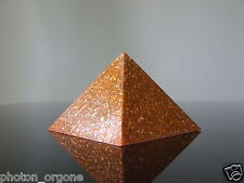 Orgone corporel énergie Kundalini Méditation Pyramide Bleu Dentelle Agate, Pierre de Soleil