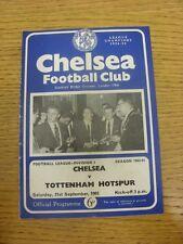 21/09/1963 Chelsea v Tottenham Hotspur  (Creased, Folded, Worn, Marked).  Any fa
