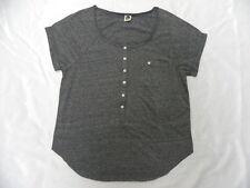 Roxy Women Beach Ball Tee Gray Shirt Sz Small
