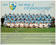 1965 SAN DIEGO CHARGERS AFL 8X10 TEAM PHOTO JOHN HADL ALWORTH SPEEDY DUNCAN