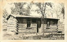 Rppc Postcard Roosevelt Cabin Bismark N.D.