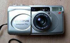 OLYMPUS Superzoom 70G - Kleinbildkamera m. Blitz - Autofokus - Silber- gebraucht