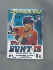 2016 TOPPS BUNT BASEBALL BLASTER BOXES 6 SEALED UNOPENED 11 PACKS 77 CARDS ! !