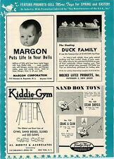 1948 PAPER AD Tonka Toys Sandbox Steam Shovel Crane & Clam Rare Early Advert