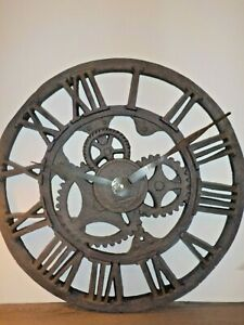 "Howard Miller XL Wall Timepiece Clock Antique Industrial 21"" Allentown # 625-275"