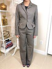 Women's Rebbeca Taylor Pant Suit, Brown Pink & Grey, Pant Sz 4 & Blazer Sz 8