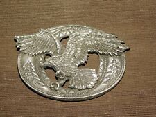 "Vintage 4"" Wide 2002 Enchantment Made Usa Metal Eagle Belt Buckle"