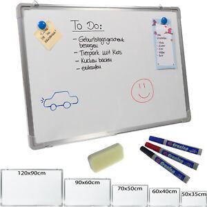 Whiteboard Magnettafel Schreibttafel Pinnwand Memoboard Wandtafel Stifte Magnete