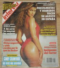 CINDY CRAWFORD Interviú 1992 magazine cover & 7 page sexy article clippings