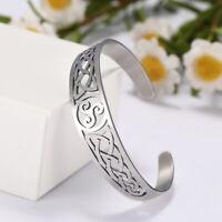 Irish Celtics Knot Viking Amulet Talisman Stainless Steel Wiccan Cuff Bracelet