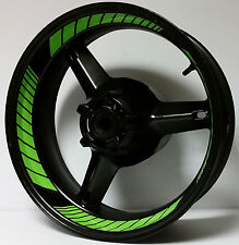 CUSTOM Kawasaki Ninja INNER WHEEL DECALS STICKERS RIM STRIPES ZX6R ZX7R ZX9R 636