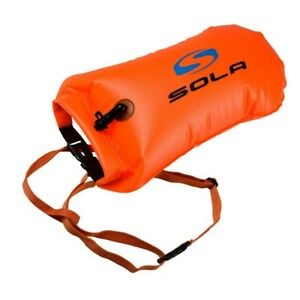Sola 20L Inflatable Open Water Swim Buoy Dry Bag Buoy Tow Float Swimming Orange