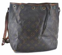 Authentic Louis Vuitton Monogram Petit Noe Shoulder Bag M42226 LV B8116