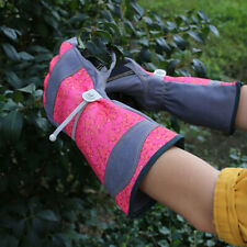 G-TUF Long Cuff Garden Gloves with Adjustable Wrist Strap for One Size Fit - RED