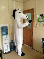 Halloween White Horse Mascot Costume Animal Bithday party game dress Free Ship