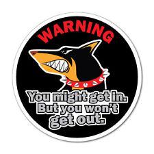 Warning Dog Doberman Pet Sticker Funny Car Stickers Novelty Decals #7431EN