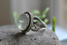 """GENUINE PREHNITE GREEN 925 STERLING SILVER RING SIZE 71/2 """"P"""" WITH Ring Box Gift"""