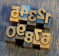 0-9 Zahlen 18 mm Plakatlettern letterpress Letter Ziffern Stempel Zahl numbers