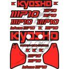 [USA] Sticker adesivi decal Kyosho Inferno MP10 alettone completo rosso