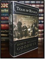 Team of Rivals ✎SIGNED✎ by DORIS KEARNS GOODWIN Hardback Lincoln 1st Ed. & Print