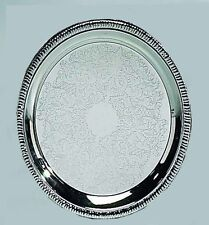 """8"""" Silver Round Tray"""