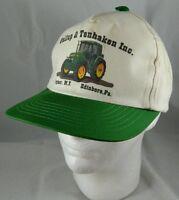 Vintage GALLUP & TENHAKEN John Deere Dealership Snapback Trucker Hat Tractor Cap