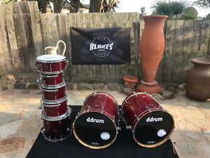 Ddrum Dios Maple Double Bass 7pc Drum Set kit Used by Megadeth with COA