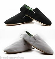 MENS ZASEL COTTON CHEAP CANVAS SLIP ON CASUAL MEN'S SHOES BLACK WHITE 1 / 2 PAIR