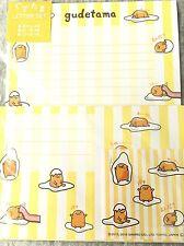 Letter Set Gudetama Yellow with Sticker Sanrio Paper Stationery Kawaii JAPAN