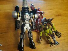 Lot Figure Reptilion beast wars Beetleborgs Red Striker power rangers drill rare