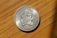 Moneda One Bermuda Crown 1964 Elizabeth II de Plata Subalpina Z