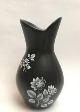 More details for vintage sylvac black floral vase made in england