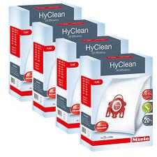 MIELE FJM HYCLEAN 3D EFFICIENCY SYNTHETIC VACUUM BAGS - x4 BOXES! GENUINE