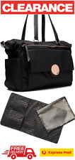 MIMCO WAVER BABY NAPPY BAG + CHANGE MAT BLACK ROSE GOLD BNWT RRP$299 - EXPRESS