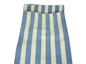 3 Vintage WAVERLY Polo Stripe Valances Blue and Yellow Ticking Stripe 76 x 14 ea