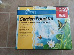 Lotus Garden Pond Kit with Heavy Duty Liner, Fountain Pump and cables