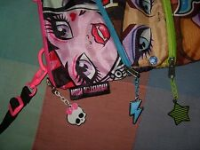 Bag monster high backpack with three compartments three zippers punk